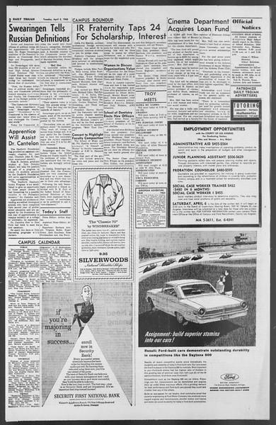 Daily Trojan, Vol. 54, No. 94, April 02, 1963