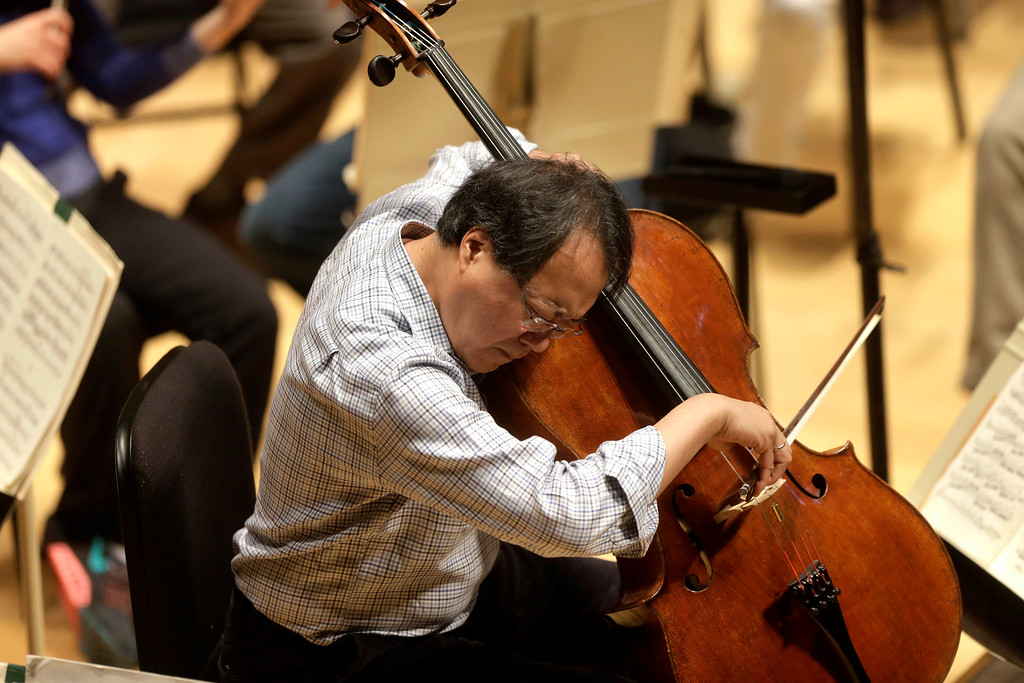 . Cellist Yo-Yo Ma will play Bach with the Cleveland Orchestra at Blossom Music Center on Aug. 12. For more information, visit clevelandorchestra.com. (Associated Press file)