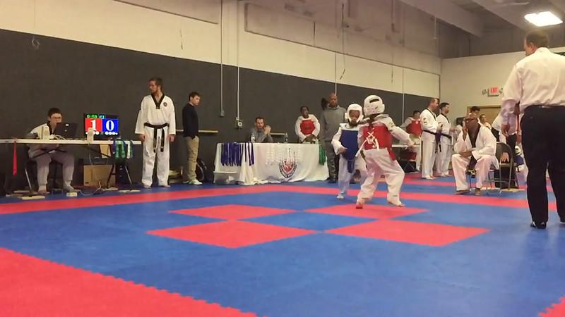 Eden Sparring Round 1 Slow – Back Kick