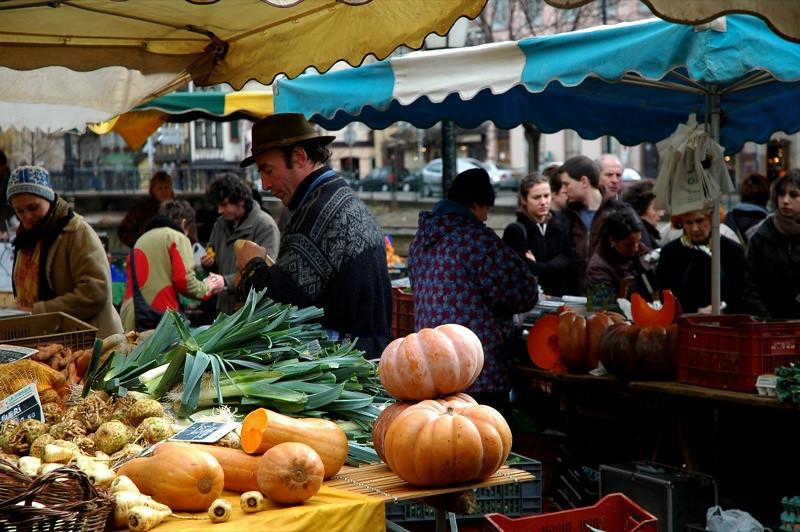 Suckling Pig Market Scene  - Strasbourg, France