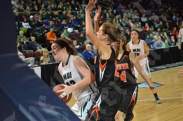 Girls' basketball: MDI vs. Gardiner 2/14/2015