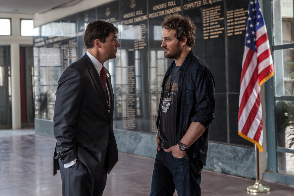 ". Kyle Chandler (left) and Jason Clarke portray CIA operatives working to capture Osama bin Laden in ""Zero Dark Thirty.\"" Provided by Columbia Pictures"