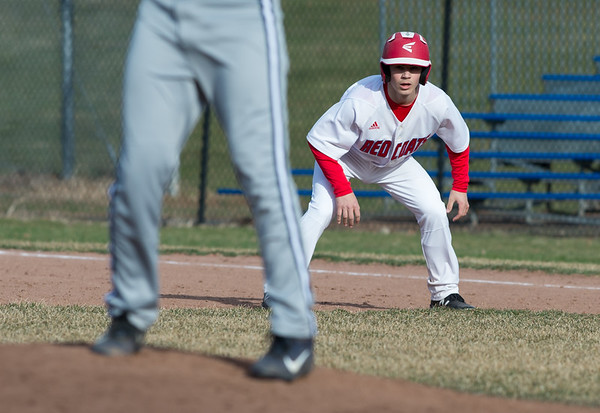 04/04/19 Wesley Bunnell | Staff Berlin baseball defeated Wethersfield at Sage Park on Thursday afternoon. Daniel Veleas (25).