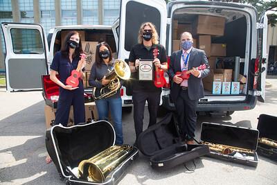 Instrument donation to Boston Public Schools