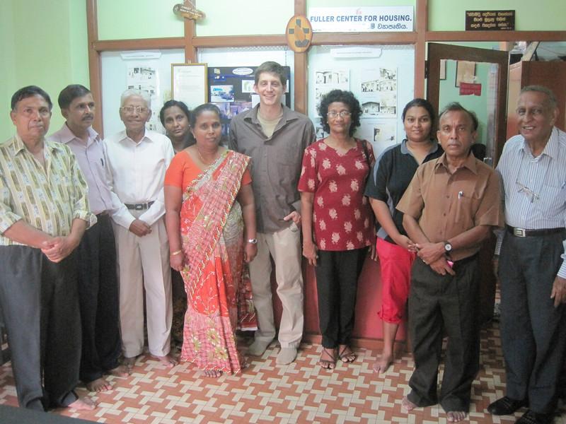 Ryan Iafigliola wIth the Fuller Center of Sri Lanka leadership team.