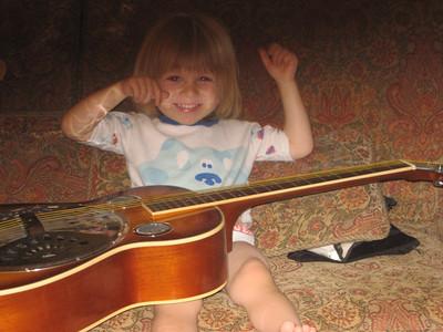 Jackson Plays Guitar