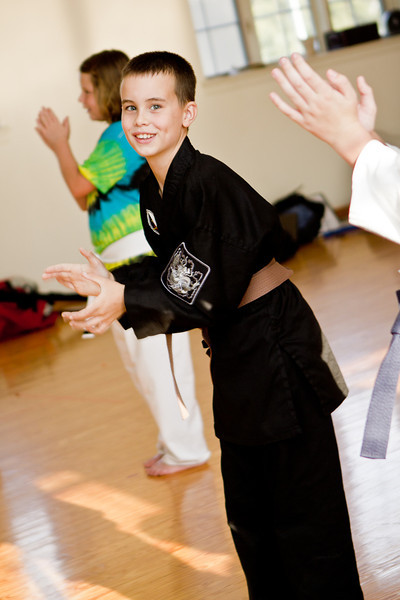 Jack and Reese Karate Graduation 09/12