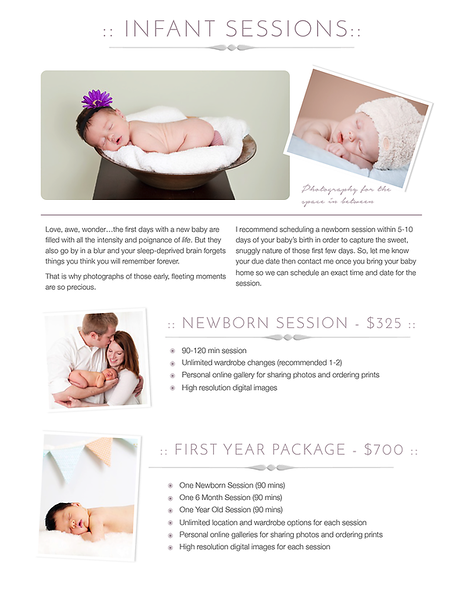 Infant Sessions
