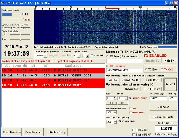 Digital Mode Screenshots