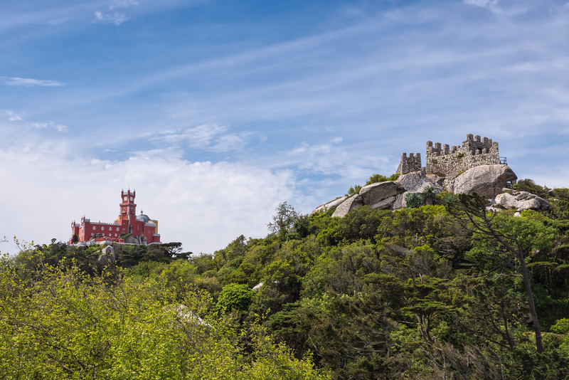 Pena palace and Moorish castle, Sintra