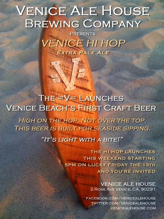 01.13.12 The Venice Ale House launches Venice Beach's First Craft Beer