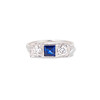 .40ctw 3-Stone Sapphire and Diamond Band by Relais 0