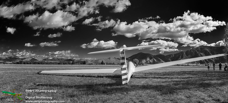Glider on airfield