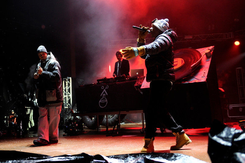 . Jurassic 5 performs during Winter on the Rocks at Red Rocks Amphitheater on January 31, 2014 in Morrison, Colorado. (Photo by Seth McConnell/The Denver Post)