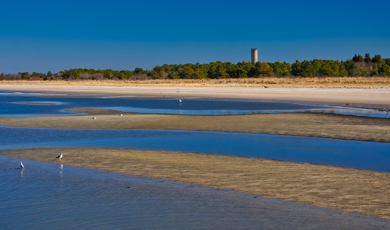Beach and World War Two Tower, Cape Henlopen State Park, Delaware