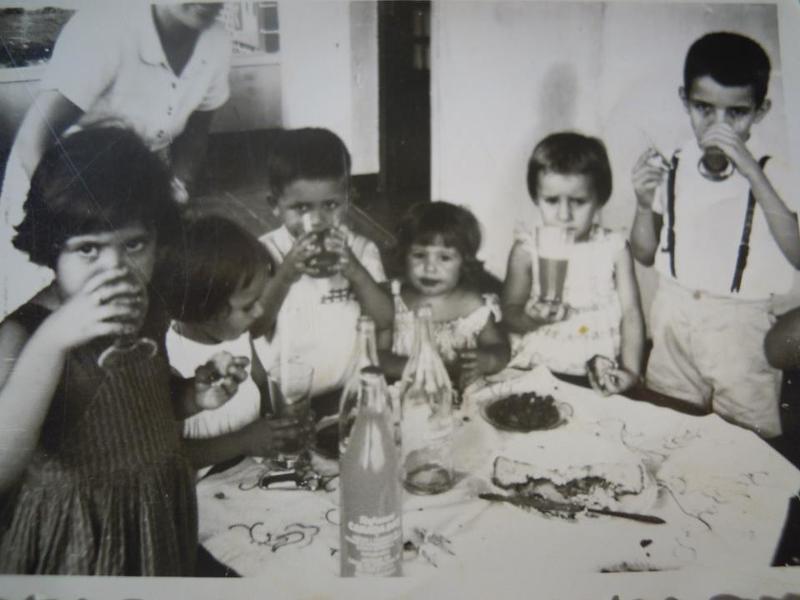 Andrada 1962 Teresa Beato; Felizbela; Orlando Ribeiro; Ruth Beato; Deolinda e Zé.