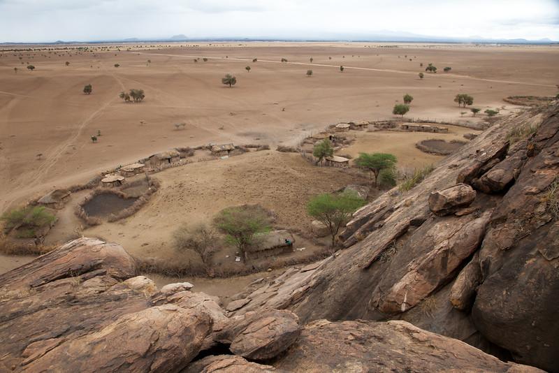 A typical Maasai village.