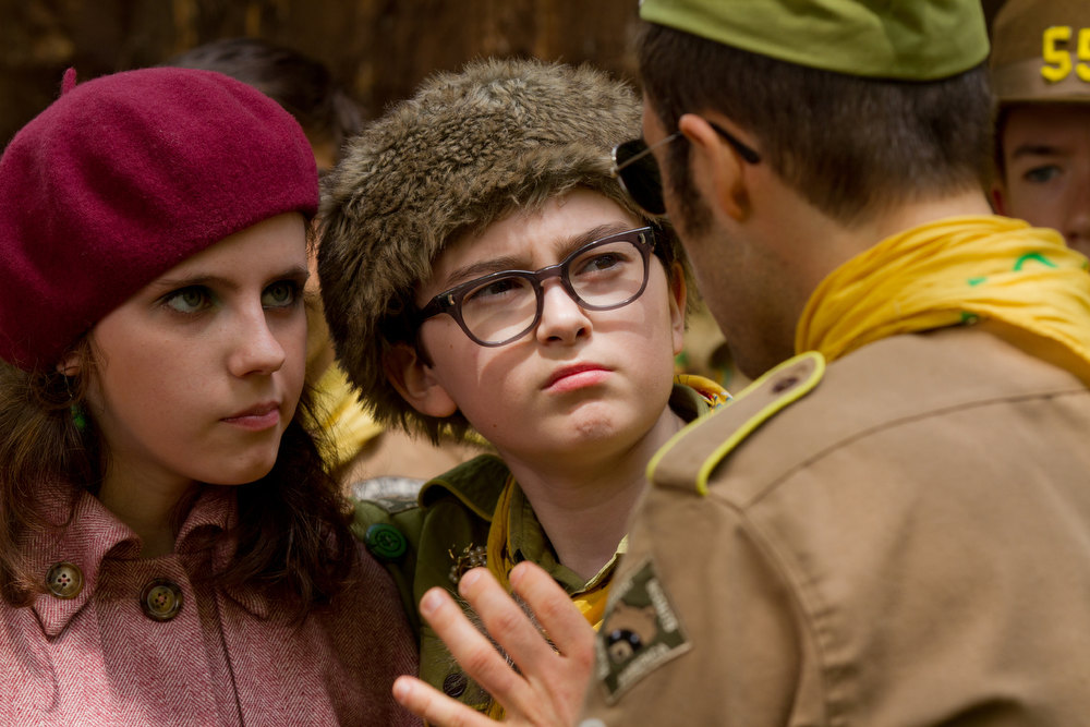 Description of . Newcomers Kara Hayward as Suzy and Jared Gilman as Sam in Wes Anderson's