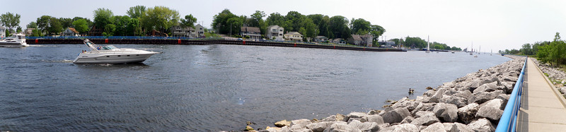 wide view of channel