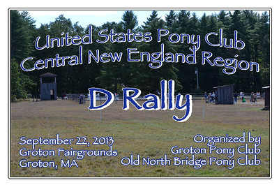 United States Pony Club Central New England Region D Rally, September 22, 2013