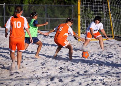 1st ever Women Crushers Beach Soccer 10-08-09