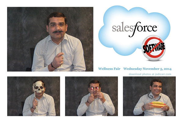 Salesforce San Mateo Wellness Fair 2014
