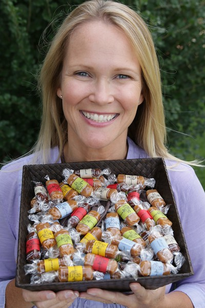 Buffy's former publicist left Hollywood to raise her kids in Bozeman, MT, and never turned back.  In Bozeman, she became the queen of carmel, or make that, Good Karmal, delicious treats that follow the fortune cookie model--what fun quote will be wrapped along with the chocolate sea salt? Https://www.goodkarmal.com