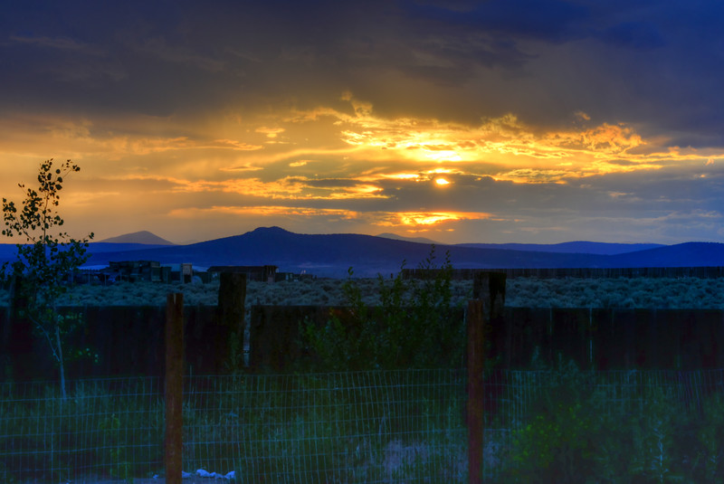 Taos Sunset Fence.jpg