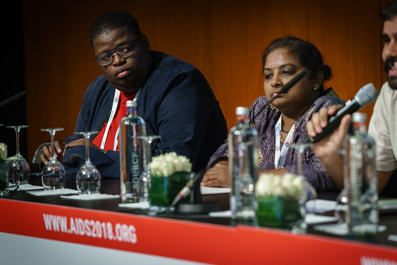 22nd International AIDS Conference (AIDS 2018) Amsterdam, Netherlands.   Copyright: Matthijs Immink/IAS  Young people at the centre: Community mobilization for youth-friendly HIV services  On the photo: Tshepo Ngoato Daxa Patel