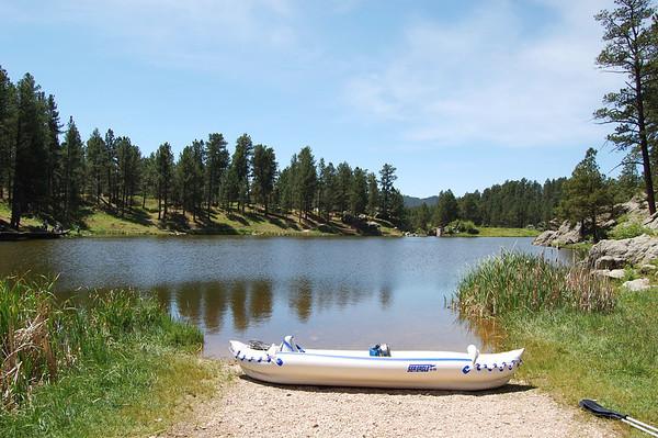 Paddling Bismarck Lake