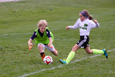 Nia and Riley Soccer - April 28, 2016 at Darree Fields Park