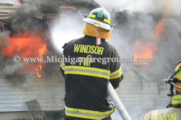 5/4/14 - Windsor Twp live burn training exercise, 8178 E. Vermontville Hwy