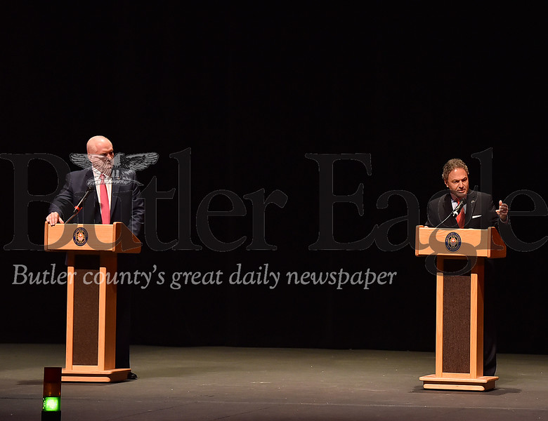 16th district congressional debate Mike Kelly and Ron DiNicola at Mercyhurst University D'Angelo Performing Arts Center in Erie