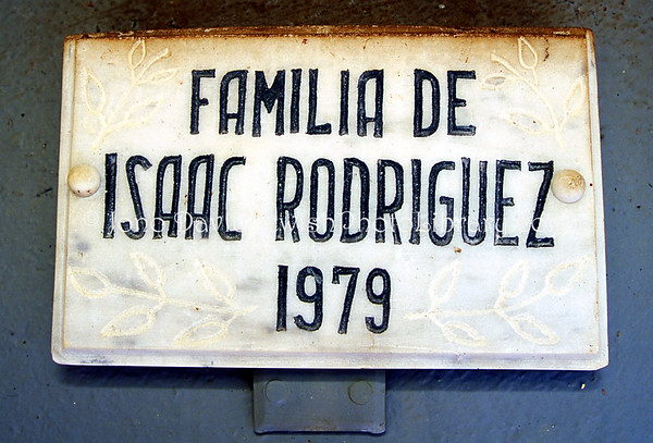 CUBA, Caibarien. Family grave of Julito Rodrigues Eli @ Caibarien General Cemetery. (2008)