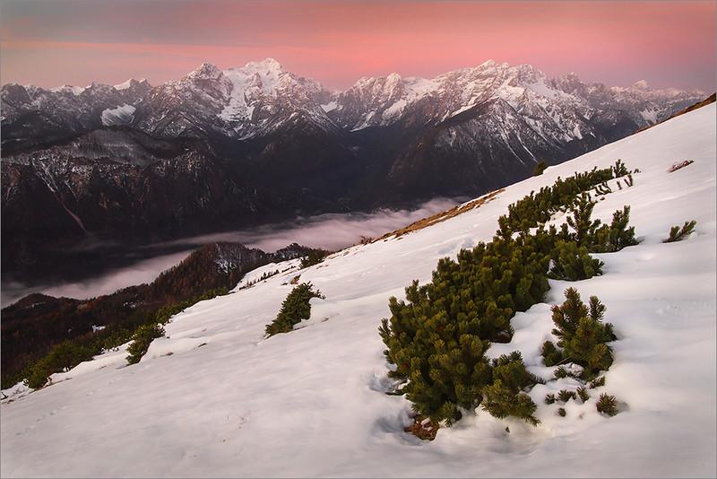 Julian Alps seen from Dovška Baba