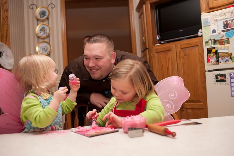 He loves his girls!