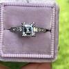 1.19ct Art Deco Carre Cut Diamond Solitaire 15