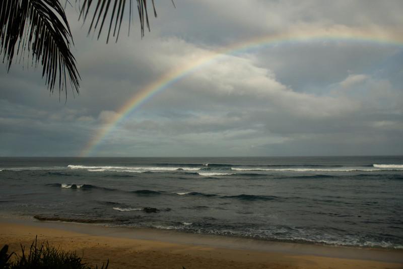 Rainbow at Sunset Beach North Shore of O'ahu, Hawai'i