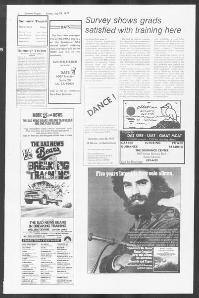 Summer Trojan, Vol. 72, No. 10, July 29, 1977
