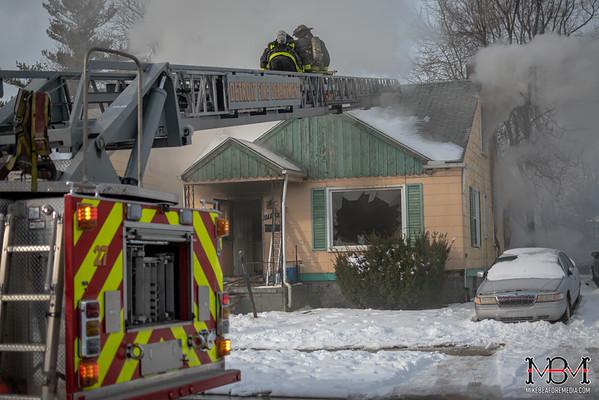 Detroit MI, House Fire 1-22-2020