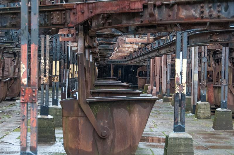 Inside the Volklingen Ironworks in Volklingen, Saarland, Germany