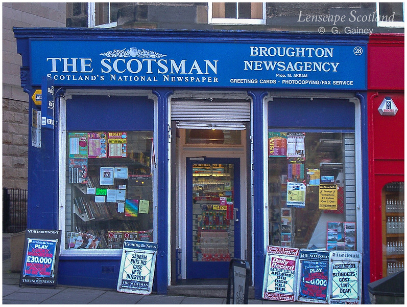 Broughton Newsagency, Broughton Street  (2003)