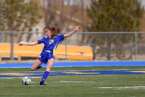 Sheridan Lady Broncs Soccer vs. Laramie (03-23-2019)