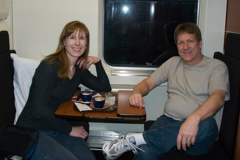 Overnight train from Brindisi to Venice.