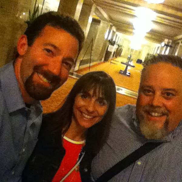 Great fun hanging with @zenaweist and @douglaskarr at #CMWorld this week! #latergram