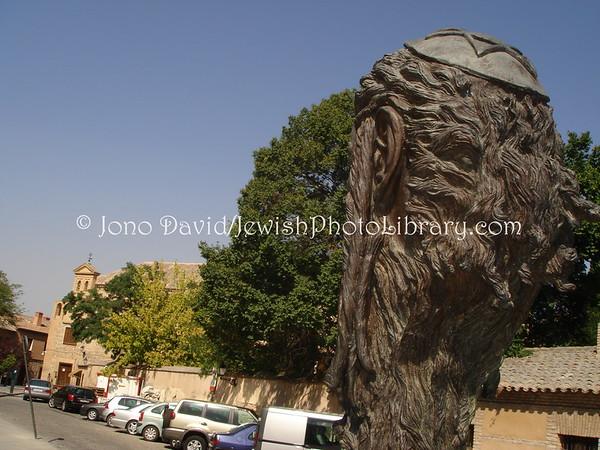 SPAIN, Toledo. Samuel Halevi monument (builder of the El Transito Synagogue). (2006)