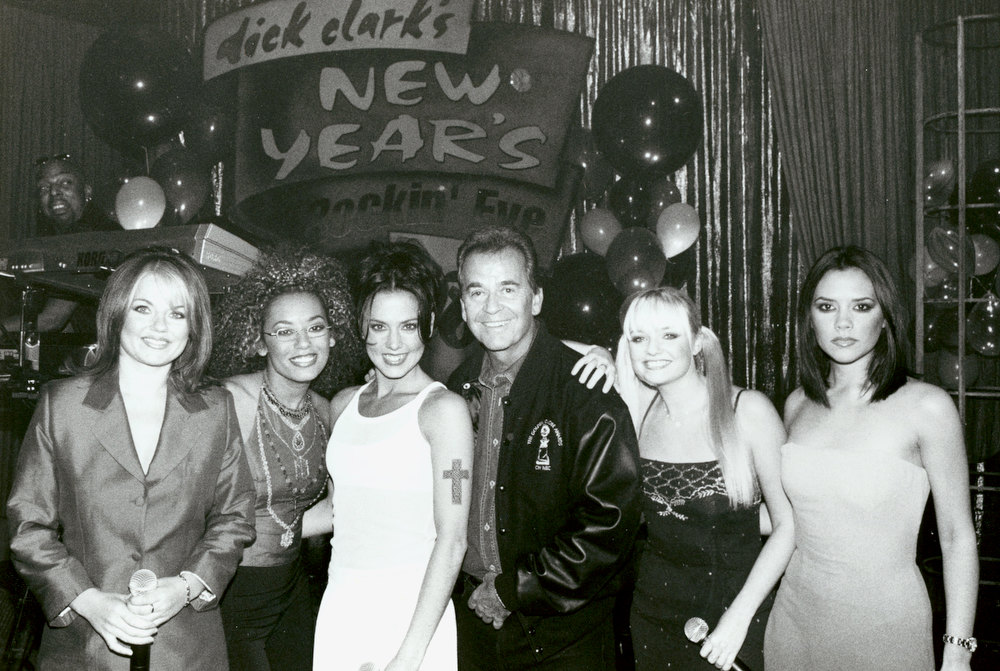 Description of . NYRE 1998 The Spice Girls with Dick Clark