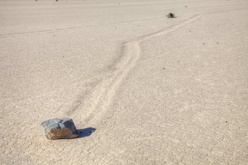 Moving Rocks at Racetrack in Death Valley, CA