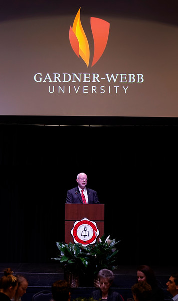Gardner-Webb hosts their annual Scholarship Luncheon in Tucker Student Center, where donors can meet their students who received their scholarship.