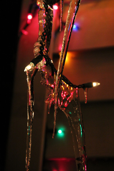 Icicles on Christmas Lights, Dutch Hill, Tamaqua (12-27-2012)
